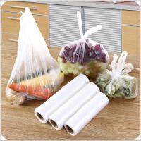 加厚食品用保鲜袋厨房一次性食物手撕袋家用背心式连卷食品袋 大中小套装
