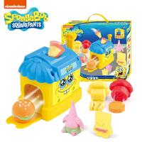 海绵宝宝3D打印机安全无毒彩泥橡皮泥DIY玩具套装汉堡组合