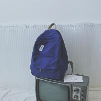 双肩包女韩版原宿高中大学生书包帆布背包少女简约