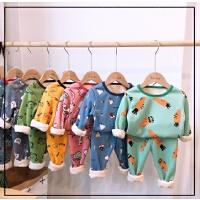 秋冬儿童内衣套装宝宝家居服女童睡衣童装男秋衣儿童保暖内衣