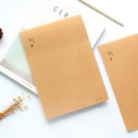 16k车线本笔记本文具 牛皮纸本子 b5大号本子空白复古封面线装本