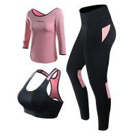 冬季瑜伽服套装 健身服长袖上衣 女新款初学者长裤秋冬专业运动