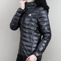 Adidas阿迪达斯 女子 运动羽绒服 连帽保暖防风外套 BQ1968