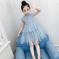 女童连衣裙夏装2018新款洋气童装儿童蕾丝旗袍公主裙女孩纱裙裙子
