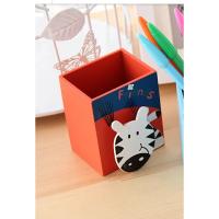 韩国创意文具木质卡通笔筒 可爱时尚儿童笔桶 小学生学习用品批发