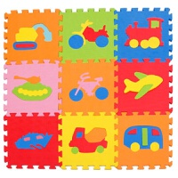 拼图儿童节礼物宝宝防护儿童环保无味婴儿童宝宝益卡通拼图垫eva泡沫地垫拼接爬行地板垫3030拼图玩具 30*30*1.