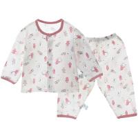 儿童宝宝空调服睡衣男透气薄男女儿童家居服睡衣女夏季
