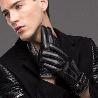 男士皮手套 冬季骑行保暖防水防风加绒加厚韩版手套 男冬骑车摩托车