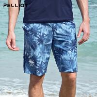 【周年庆直降再满减】伯希和户外速干裤 男女夏季宽松沙滩裤弹力运动透气休闲短裤