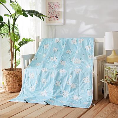 当当优品家纺 新疆棉花夏凉被 可水洗空调被 千雅(蓝)150*200