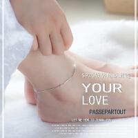 脚链女 日韩版简约时尚转运珠925银饰品 送女友生日礼物