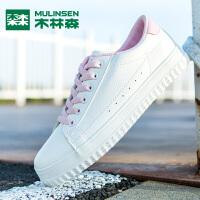 木林森女鞋2019新款流行新款百搭板鞋平底小白鞋女韩版学生休闲鞋