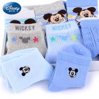 迪士尼儿童袜子男童非纯棉精梳棉春夏7-9岁秋季男孩3-5宝宝棉袜