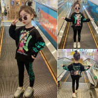 女童套装新款儿童运动大童儿童卫衣春秋