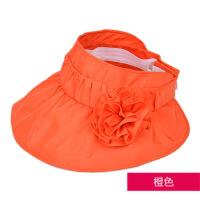 遮阳帽女夏季韩国可折叠无防晒帽子紫外线女士空帽沙滩太阳帽 均码(56-58cm)