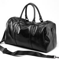 旅行包男手提包短途出差商务大容量单肩斜挎健身行李包 黑色 大