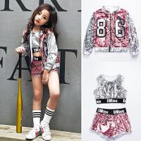 女童爵士舞少儿街舞演出服儿童嘻哈舞蹈服装新款儿童演出服