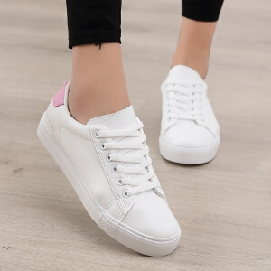 【限时特价】Q-AND/奇安达2018春夏新款女士韩版系带平底休闲内增高厚底板鞋