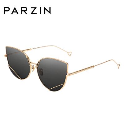 帕森太阳镜女 酷感金属尼龙镜片灵动猫眼太阳镜 潮人墨镜司机驾驶镜7738
