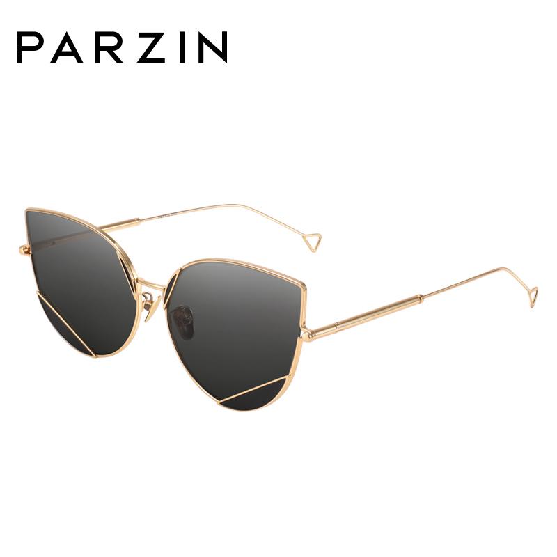 帕森2018新品太阳镜女 酷感金属尼龙镜片灵动猫眼太阳镜 潮人墨镜司机驾驶镜7738