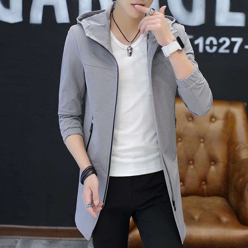 春秋新款男士风衣中长款青年大衣韩版休闲外套夹克 一般在付款后3-90天左右发货,具体发货时间请以与客服协商的时间为准