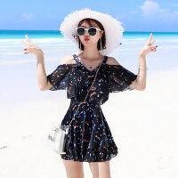 游泳衣女保守新款时尚显瘦性感连体遮肚韩国温泉大码胖mm泳装