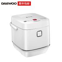 大宇Daewoo降糖电饭煲脱糖电饭煲多功能不锈钢内胆多档脱糖2L+4L双内胆升降技术 白色 FB05
