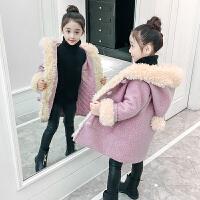 儿童毛呢外套冬季2018新款韩版女孩中长款呢子大衣