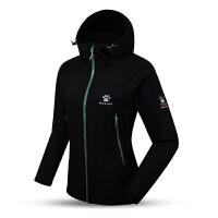 KELME卡尔美 K36C2016 女式户外抓绒外套 防风保暖运动外套 连帽加厚开衫