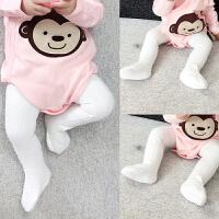 新生儿宝宝连裤袜春秋儿童连体袜子6个月女童秋冬连体裤打底裤袜
