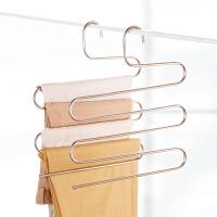 S型多层裤架不锈钢多功能裤挂 家用衣柜收纳衣架挂裤子架子