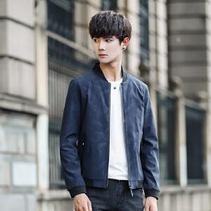 男外套韩版潮流青年百搭2017新款修身薄款春秋休闲帅气男士夹克