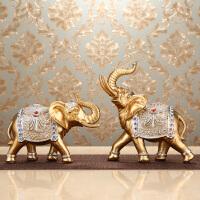 欧式客厅招财大象摆件创意家居酒柜装饰品卧室房间办公室工艺摆设