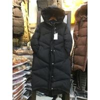 J1韩版羽绒女冬季外套 棉袄过膝面包服 情侣棉衣女中长款0.85