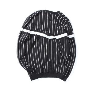 【限时抢购到手价:120元】AMAPO潮牌大码男装 秋装新款加肥加大纯棉条纹毛衣针织开衫外套男