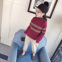 女童毛衣2018春秋新款高领长袖针织衫儿童女宝宝打底毛衣