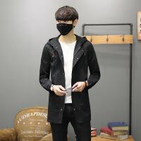 秋冬季风衣男中长款韩版帅气修身男士外套百搭