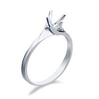 先恩尼 18k金 钻石戒托 HFGCB030 结婚钻戒定制 钻石女戒 钻石空托