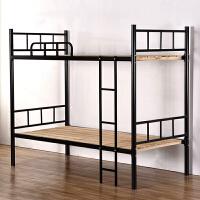 铁艺床上下铺双层铁床高低床员工学生宿舍床1.2米单人钢木床 其他 2米