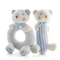 婴儿玩具摇铃0-3-6-12个月新生儿男女宝宝安抚毛绒布艺套装