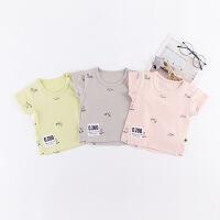 【618大促-每满100减50】夏季新款圆领儿童t恤 夏薄款宝宝套头衫韩版薄款婴儿衣服