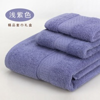 �棉毛巾方巾浴巾三件套 柔�吸水加厚�Y盒酒店情�H�Y品�F�