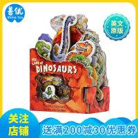 【预订】【Mini-House Book迷你屋书】恐龙的国度 英文原版儿童纸板趣味书