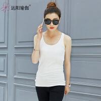 女打底衫运动吊带背心瑜珈服舞蹈服上衣 306Y-07白色(不含胸垫)