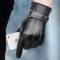手套男真皮手套冬季男士手套保暖真皮手套加厚手套开车