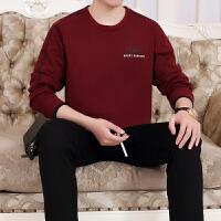 运动套装春秋季运动服男款长袖圆领休闲套装特大码套头卫衣跑步健身服两件套