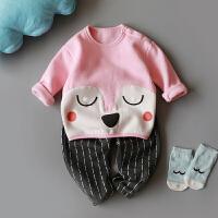 女童装女宝宝冬装套装0-1-2-3-4岁婴儿秋冬衣服男童