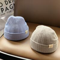 婴儿帽子冬天毛线帽女宝宝可爱初生超萌女童洋气秋冬季