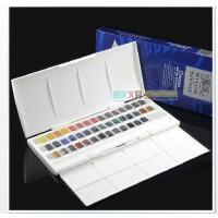温莎牛顿歌文Cotman 半块状固体水彩颜料 45色块|工作室套装