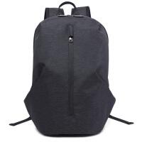 机能男士双肩包背包防电脑包商务运动休闲包 黑色 21寸